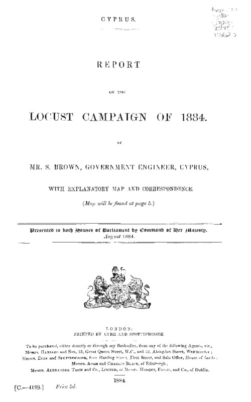 Report on the locust campaign of 1884.pdf
