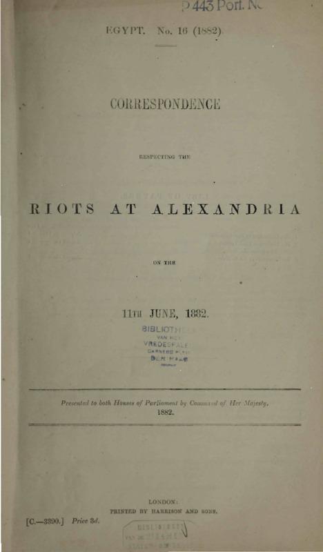 Correspondence respecting the riots at AlexandriaΙ.pdf