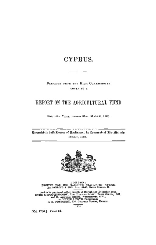 Report on the Agricultural fund for the year ended 31st March 1903.pdf